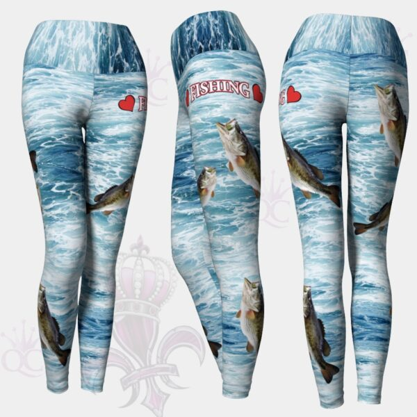 Love Fishing Blue Water Yoga Leggings Pants