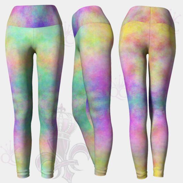 Smokey Pastel Yoga Leggings Pants