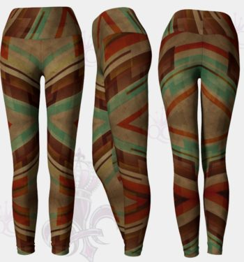 70s Retro Lines Leggings