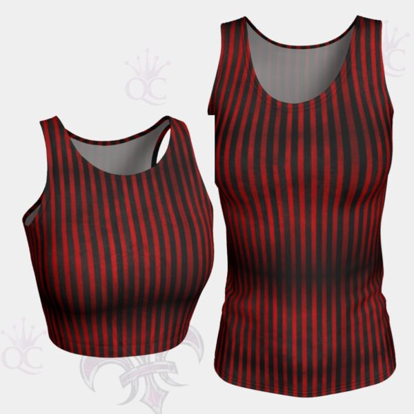Circus Red Black Stripes Tank Top Groupe Photo Yoga Pants Center