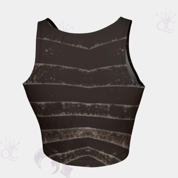 Black Silver Zebra Crop Top Back