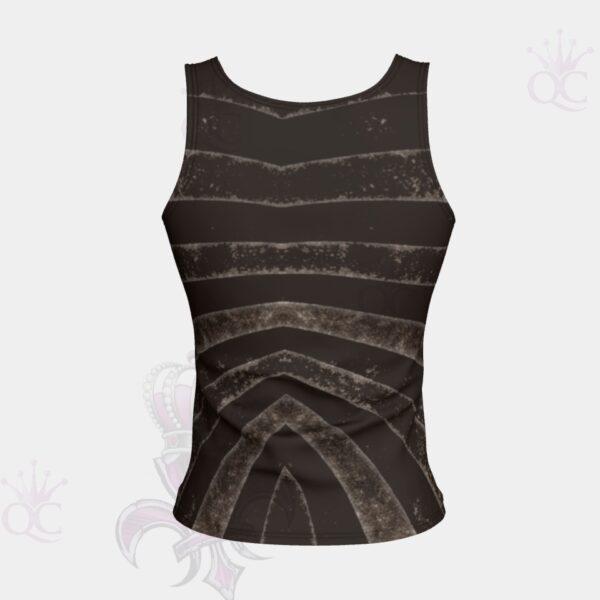 Black Silver Zebra Short Tank Top Back