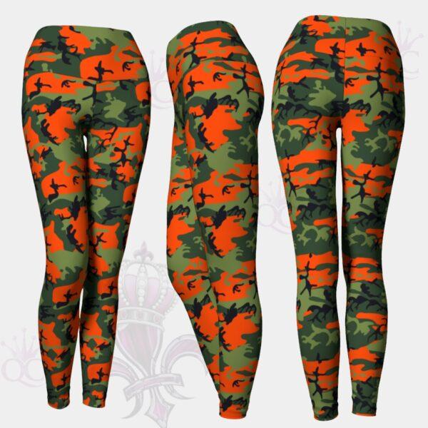 Camo Orange Green Leggings