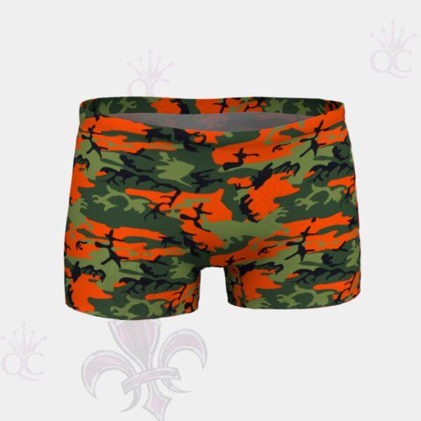 Camo Orange Green Shorts