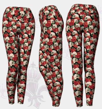 Roses Skull Leggings