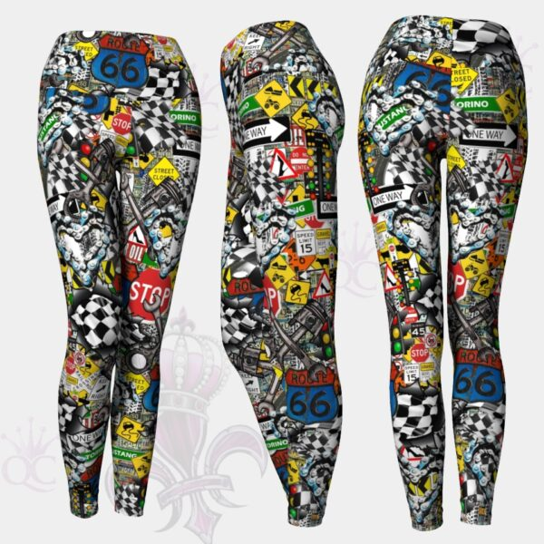 Street Art 66 Leggings