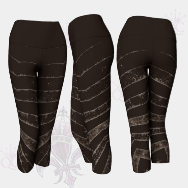 Black Silver Zebra Stripes Capris