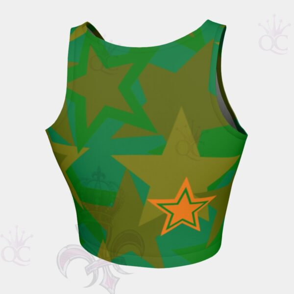 Camo Stars Crop Top Back