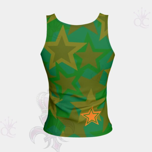 Camo Stars Short Tank Top Back