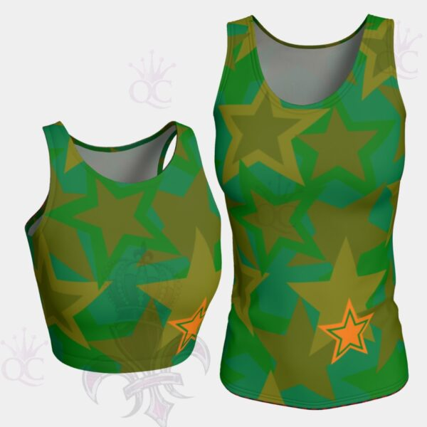 Camo Stars Tank Top Groupe Yoga Pants Center