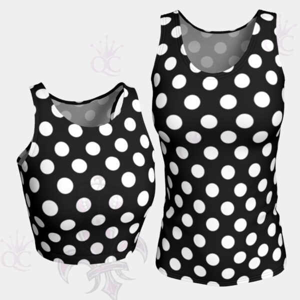 White Polka Dots Black Top Group Photo