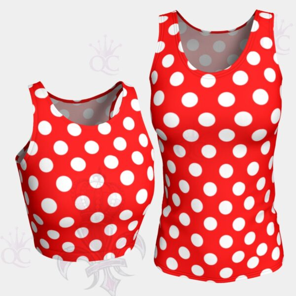 White Polka Dots Red Top Group Photo