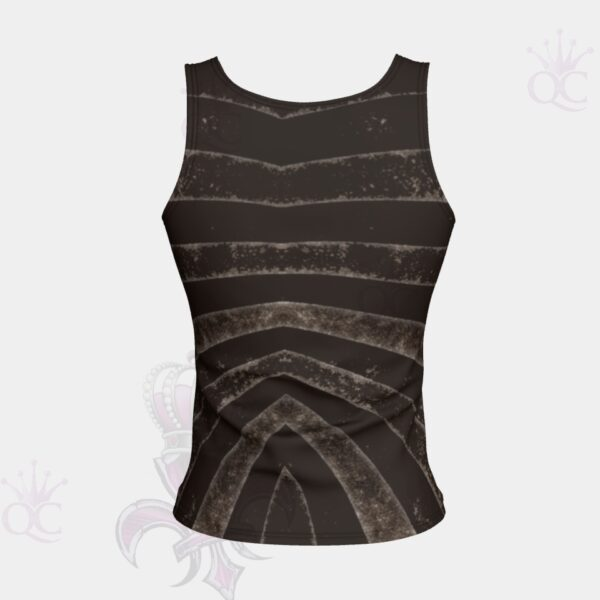 Black Silver Zebra Short Tank Top Back