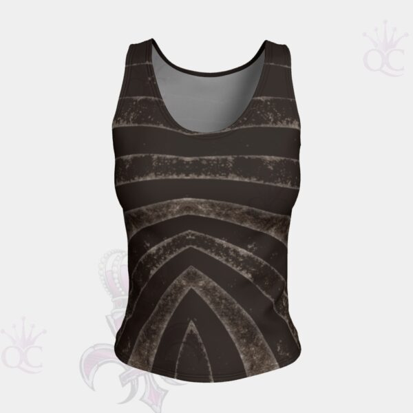 Black Silver Zebra Short Tank Top Front