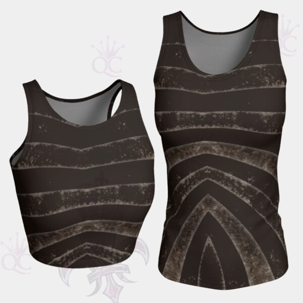 Black Silver Zebra Top
