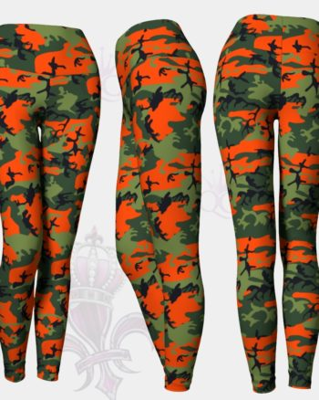 Camo Orange Green Leggings