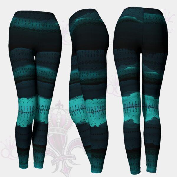Native Blue Art Leggings