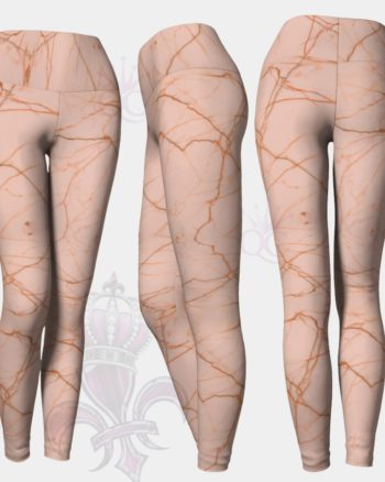 Pink Marble Leggings Yoga Pants Center