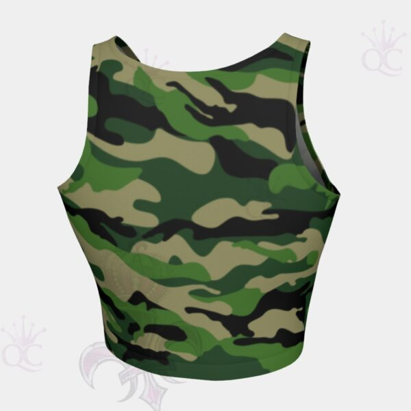 Camo Green Crop Top Back View