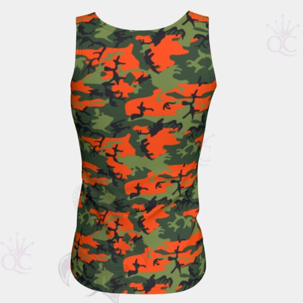 Camo Orange Green Top Back View