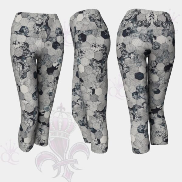 Octagons Grey Capris