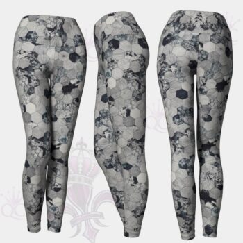 Octagons Grey Leggings