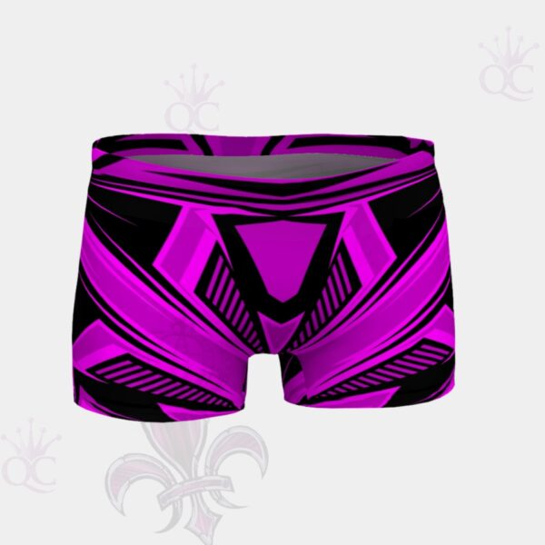 Purple Pink Black Abstract Short