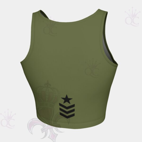 Army Star Crop Top Back