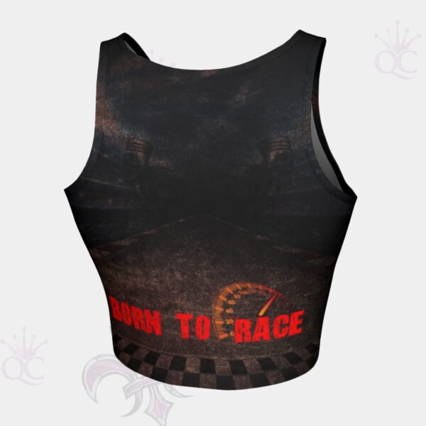 Born To Race Crop Top Back View
