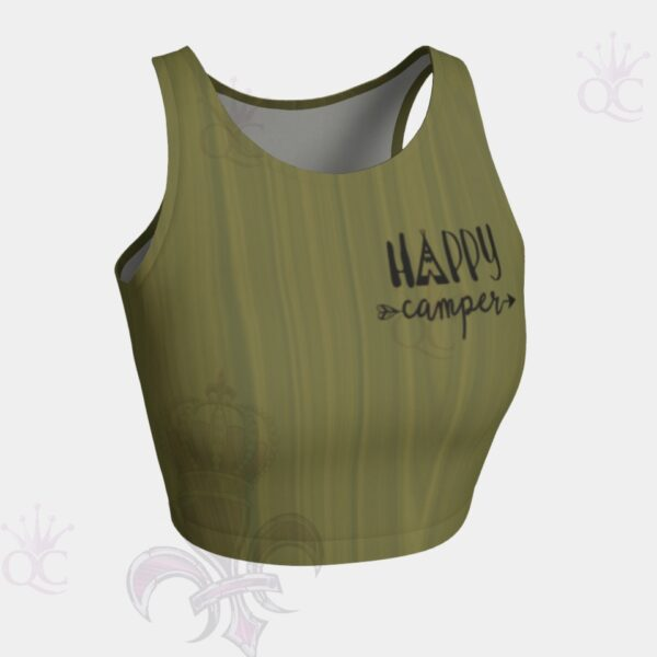 Happy Camper Crop Top Front