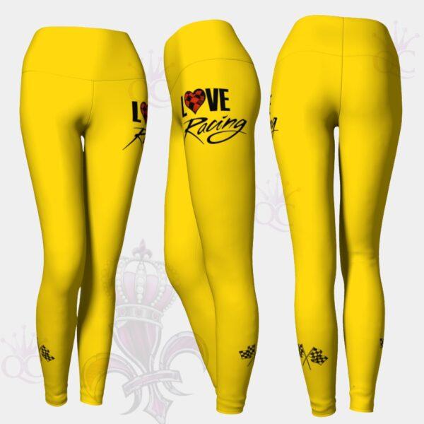 Love Racing Yellow Leggings