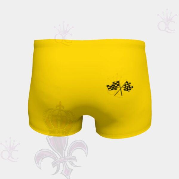 Love Racing Yellow Short Back View