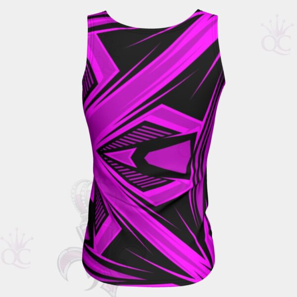 Purple Pink Black Abstract Top Back View