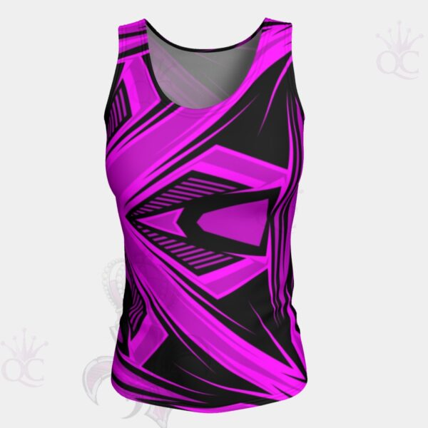 Purple Pink Black Abstract Top Front