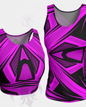 Purple Pink Black Abstract Top Group
