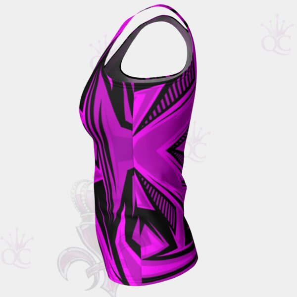 Purple Pink Black Abstract Top Side View