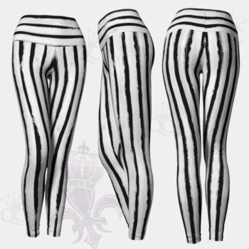 Beetle Juice Black White Leggings