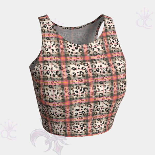 Cheetah Plaid Crop Top