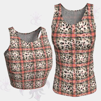 Cheetah Plaid Top Groupe