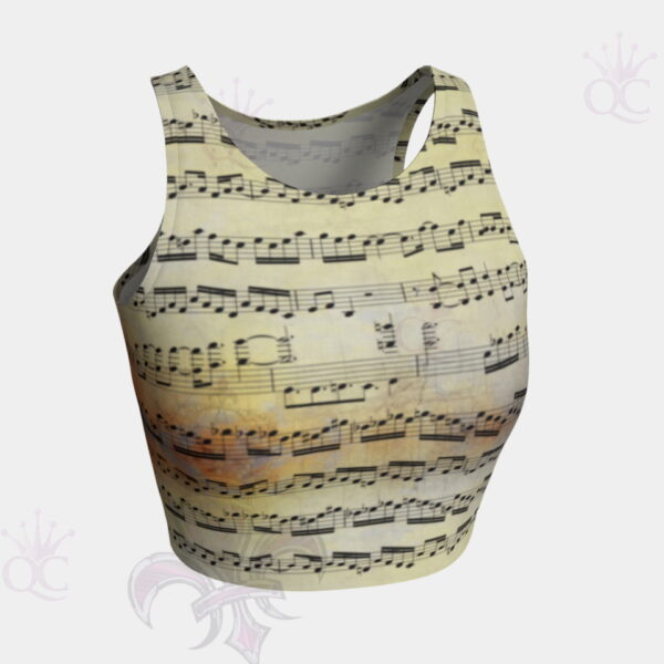 Music Partition Crop Top