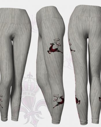 Plaid Deers Grey Leggings