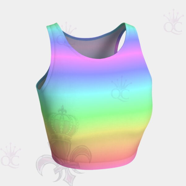 Unicorn Rainbow Crop Top