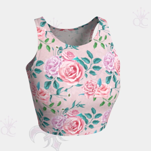 Garden Party Rose Pink Crop Top