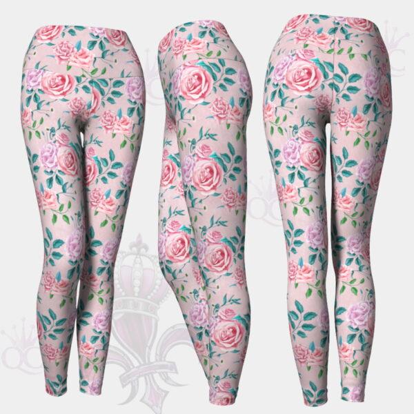 Garden Party Rose Pink Leggings