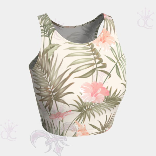 Tropical Flower Crop Top