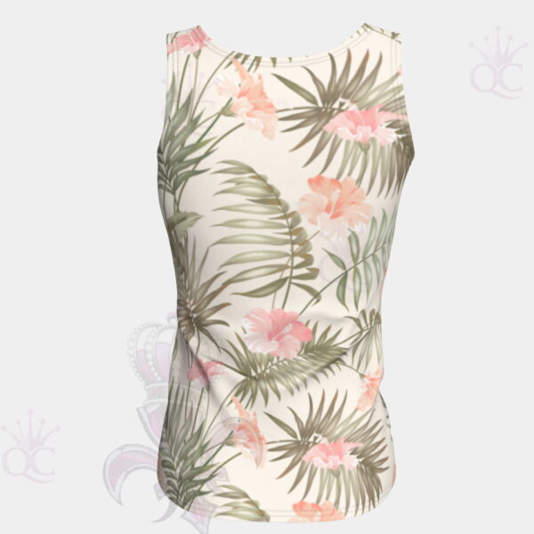 Tropical Flower Tank Top Back
