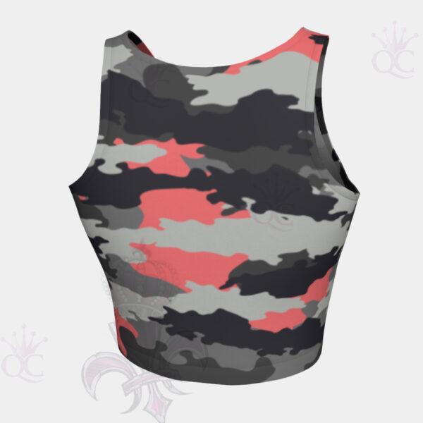 Camo Pink Back View Crop Top