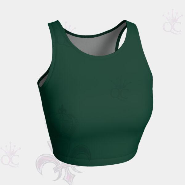 Pine Green Crop Top